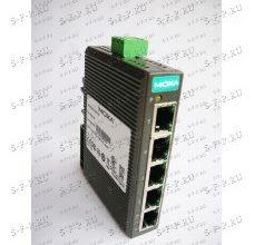 EDS-205A: Ethernet-коммутатор, неуправляемый, компактный, на DIN-рейку с 5 портами 10/100BaseTX, металлический корпус, Moxa