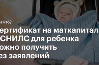 Всё об электронном сертификате на материнский капитал