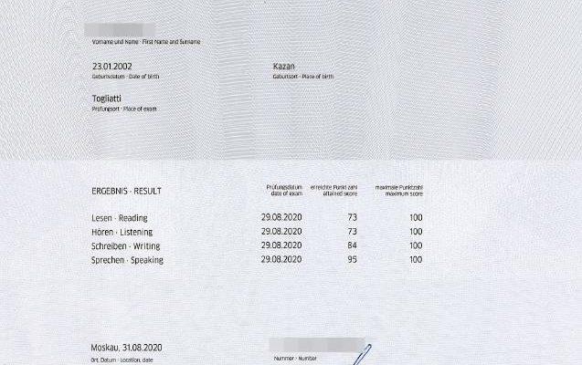 Сертификаты о знании немецкого языка - Goethe-Zertifikat B1