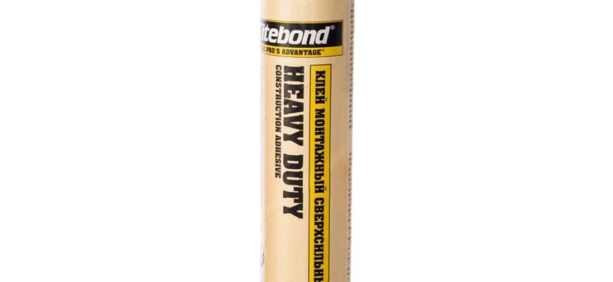 Монтажный клей для ванных и пластика Titebond Tub Kit Surround Pro белый картридж 5221 - цена, отзывы, характеристики, фото - купить в Москве и РФ