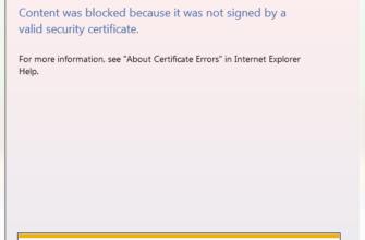 Содержимое было заблокировано, так как оно не было подписано действительным сертификатом безопасности - Windows Bulletin Tutorials