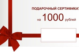 Подарочный сертификат: макет с нуля пошагово, бесплатно