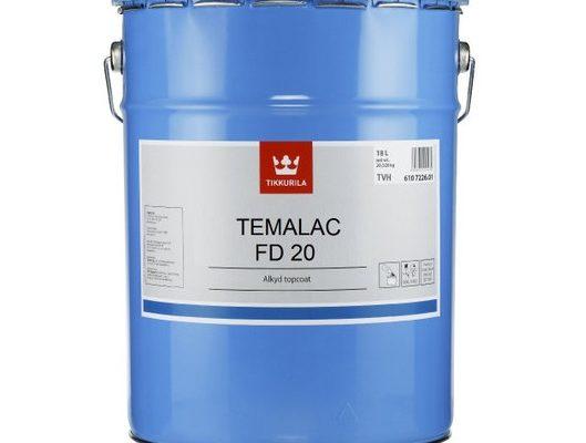 Краска алкидная Tikkurila Temalac FD 20 (Темалак ФД 20) TCH, полуматовая, 18 л цена - купить в интернет-магазине