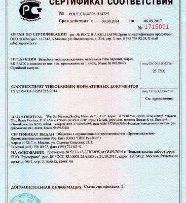 Документация, сертификаты соответствия на продукцию компании Новые Технологии