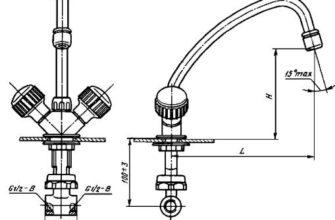 ГОСТ 25809-96 Смесители и краны водоразборные. Типы и основные размеры