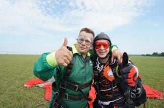 Цена прыжка с парашютом с инструктором в Москве - 12 000 руб. Тандем. Аэроклуб FLY-ZONE.