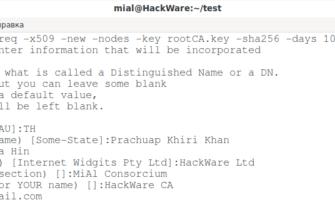 OpenSSL: принципы работы, создание сертификатов, аудит -